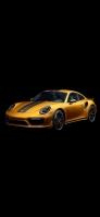 金色のかっこいいスポーツカー iPhone 11 Pro スマホ壁紙・待ち受け