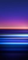 青・オレンジ・紫・ピンクのライン AQUOS sense5G 壁紙・待ち受け