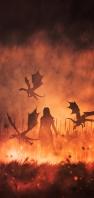 ゲーム・オブ・スローンズ ドラゴンの母 デナーリス AQUOS sense4 壁紙・待ち受け