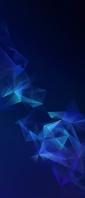 綺麗な青いポリゴン Xperia 10 III Androidスマホ壁紙・待ち受け