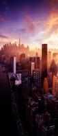 海沿いの綺麗な大都会 高層ビル群 Xperia 10 III Androidスマホ壁紙・待ち受け