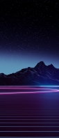 綺麗な星空と紫の大地 Xperia 10 II Androidスマホ壁紙・待ち受け