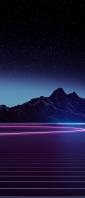 綺麗な星空と紫の大地 Xperia 10 III Androidスマホ壁紙・待ち受け
