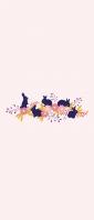 兎と花のイラスト Xperia 10 II Androidスマホ壁紙・待ち受け