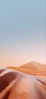 綺麗な砂丘と澄んだ空 iPhone 12 mini スマホ壁紙・待ち受け