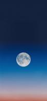 兎の満月 夜空 iPhone 12 mini スマホ壁紙・待ち受け