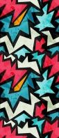青・ピンク・白のジグザグのテクスチャー Xperia 10 III Androidスマホ壁紙・待ち受け
