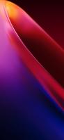 綺麗な赤と青のドーナツ状のオブジェクト iPhone 12 mini スマホ壁紙・待ち受け