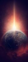 宇宙 地球 バースト iPhone 12 mini スマホ壁紙・待ち受け