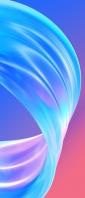 綺麗な水色の曲線 ピンク・青の背景 Xperia 10 II Androidスマホ壁紙・待ち受け