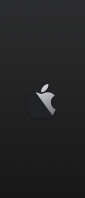 黒の背景 林檎のマーク Xperia 10 II Androidスマホ壁紙・待ち受け
