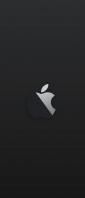 黒の背景 林檎のマーク Xperia 10 III Androidスマホ壁紙・待ち受け