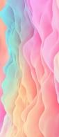 淡いピンク・水色・オレンジの雲のようなテクスチャー Xperia 10 III Androidスマホ壁紙・待ち受け