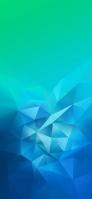 青・緑の綺麗なグラデーション ポリゴン iPhone 12 mini スマホ壁紙・待ち受け