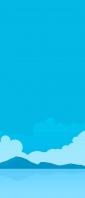 夏空 雲 山 湖 イラスト Xperia 10 II Androidスマホ壁紙・待ち受け
