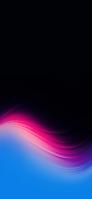 綺麗なピンクと水色のグラデーション 黒い背景 iPhone 12 mini スマホ壁紙・待ち受け