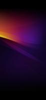 綺麗な濃い紫・オレンジの背景 iPhone 12 mini スマホ壁紙・待ち受け