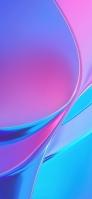 光沢のあるピンク・水色の鮮やかなテクスチャー iPhone 12 mini スマホ壁紙・待ち受け
