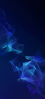 青のグラデーションの綺麗なポリゴン iPhone 12 mini スマホ壁紙・待ち受け