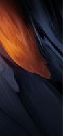 溶けるようなオレンジ・青の壁 iPhone 12 mini スマホ壁紙・待ち受け