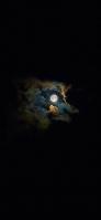 満月 暗闇 朧月夜 iPhone 12 mini スマホ壁紙・待ち受け