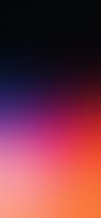 綺麗な紫・オレンジのグラデーション iPhone 12 Pro スマホ壁紙・待ち受け