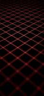 赤い線 菱形 黒の背景 iPhone 12 Pro スマホ壁紙・待ち受け