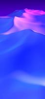 紫・ピンクのグラデーションの山 iPhone 12 Pro スマホ壁紙・待ち受け