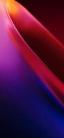 綺麗な赤・紫のドーナツ型のオブジェクト iPhone 12 Pro スマホ壁紙・待ち受け