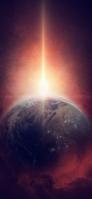地球 宇宙のバースト iPhone 12 スマホ壁紙・待ち受け