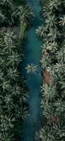ジャングルの中の川 iPhone 12 Pro スマホ壁紙・待ち受け