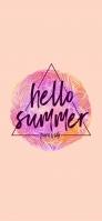 hello summer iPhone 12 Pro スマホ壁紙・待ち受け