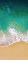 俯瞰視点 緑の海と潮騒 AQUOS sense5G 壁紙・待ち受け