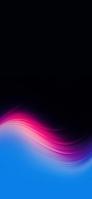 黒の背景 ピンク・水色のグラデーション iPhone 12 Pro スマホ壁紙・待ち受け