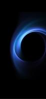 鮮やかな青いリング iPhone 12 Pro スマホ壁紙・待ち受け
