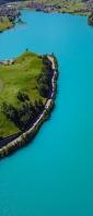 綺麗な湖に囲まれた島 Xperia 10 III Androidスマホ壁紙・待ち受け