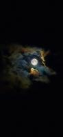 朧月夜 綺麗な満月 iPhone 12 Pro スマホ壁紙・待ち受け