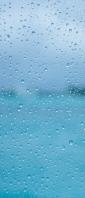 背景が透けている綺麗な水色のガラス Xperia 10 III Androidスマホ壁紙・待ち受け