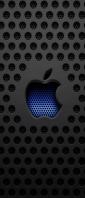 穴の開いた黒い板 青い林檎 Xperia 10 III Androidスマホ壁紙・待ち受け