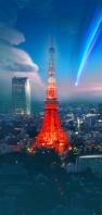 東京タワー 彗星 AQUOS sense5G 壁紙・待ち受け