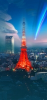 東京タワー 彗星 AQUOS sense4 壁紙・待ち受け