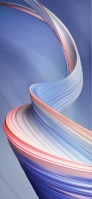 綺麗な青とピンクのライン iPhone 12 Pro スマホ壁紙・待ち受け