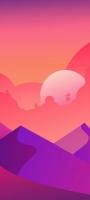 ピンクのグラデーションの空 山 Galaxy A32 5G 壁紙・待ち受け