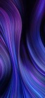 青・紫の無数の線 iPhone 12 mini スマホ壁紙・待ち受け