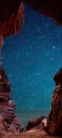 水色の銀河 赤土色の土地 Galaxy A32 5G 壁紙・待ち受け