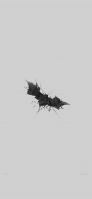 かっこいい黒のバットマンのロゴ 灰色の背景 iPhone 12 スマホ壁紙・待ち受け