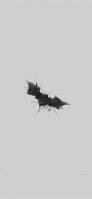 かっこいい黒のバットマンのロゴ 灰色の背景 iPhone 12 Pro スマホ壁紙・待ち受け