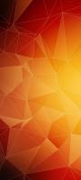 オレンジのグラデーションのポリゴン Redmi Note 9S Androidスマホ壁紙・待ち受け