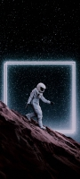 月面を歩く宇宙飛行士 Redmi Note 9S Androidスマホ壁紙・待ち受け