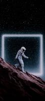 月面を歩く宇宙飛行士 OPPO Reno5 A Androidスマホ壁紙・待ち受け